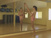 Flexible Gymnast Lata P And Naked Classic Workout