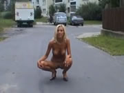 Naked Photo Session On The Street